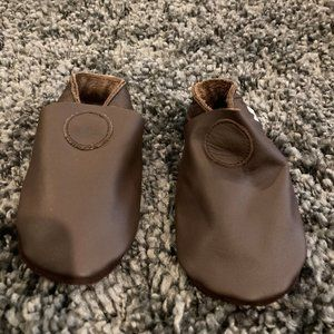 Boys Bobux Brown Leather Slip-on Shoes